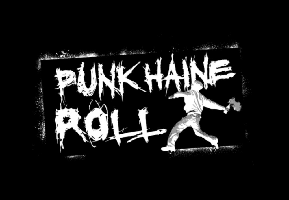 punk haine roll t-shirt backpatch