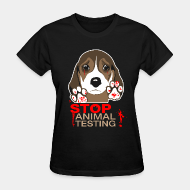T-shirt féminin ♀ Stop animal testing