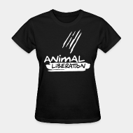 T-shirt féminin Animal liberation