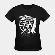 T-shirt féminin Anarchism is the revolutionary idea that no one is more qualified than you are to decide what your life will be