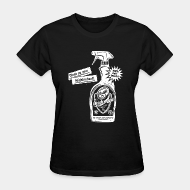 T-shirt féminin ♀ Clean up your neighborhood! Antifa cleaning agent 100% anti-fascist