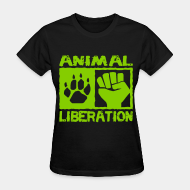 T-shirt féminin ♀ Animal liberation