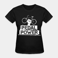 T-shirt féminin ♀ Pedal power