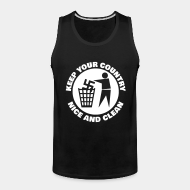 Camisole ♂ Keep your country nice and clean
