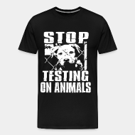 T-shirt Xtra-Large Stop testing on animals