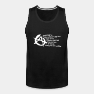 Camisole ♂ Anarchy is the revolutionary idea that no one is more qualified than you are to decide what your life will be