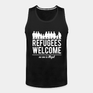 Camisole ♂ Refugees welcome - no one is illegal