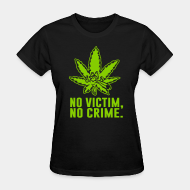 T-shirt féminin ♀ No victim, no crime.