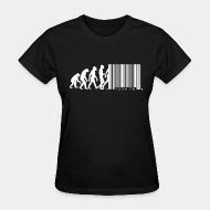 T-shirt féminin Bar code evolution
