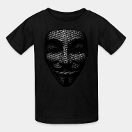 T-shirt enfant anonymous occupy 99 percent