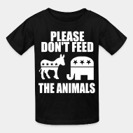 T-shirt enfant Please don't feed the animals (democrats & republicans)