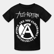T-shirt enfant Aus-Rotten - People are not expendable, governement is