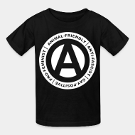 T-shirt enfant Animal-friendly / anti-fascist / gay-positive / pro-feminist
