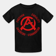 T-shirt enfant Freedom equality anarcho-communism
