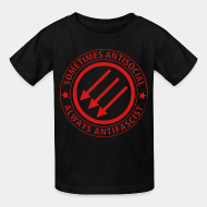 T-shirt enfant Sometimes antisocial always antifascist