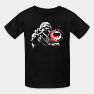 T-shirt enfant antifa anti racist anti nazi