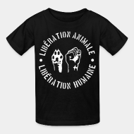 T-shirt enfant animal liberation vegetarian vegan ALF animal liberation front