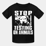 T-shirt enfant Stop testing on animals