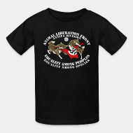 T-shirt enfant Animal Liberation Front antifa division - equality among peoples, equality among species