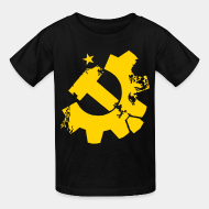 T-shirt enfant working class syndicalism unionism class war