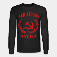 Chandail à manches longues Red action antifa
