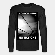 Chandail à manches longues No borders no nations