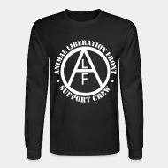Chandail à manches longues ALF Animal Liberation Front support crew