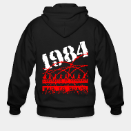 Hoodie à fermeture éclair 1984 ignorance is strength war is peace