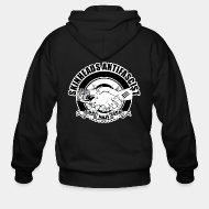 Hoodie à fermeture éclair Skinheads antifascist - fight nazi scum