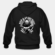 Hoodie à fermeture éclair Red & Anarchist SkinHeads