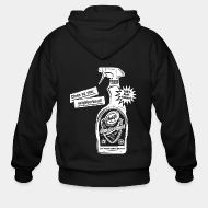 Hoodie à fermeture éclair Clean up your neighborhood! Antifa cleaning agent 100% anti-fascist