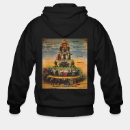 Hoodie à fermeture éclair Pyramid of capitalist system