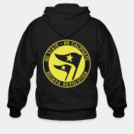 Hoodie à fermeture éclair No state - no caliphate. Rojava revolution