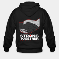 Hoodie à fermeture éclair Strong together - anti facism!