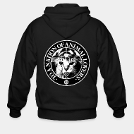 Hoodie à fermeture éclair Conflict - To a nation of animal lovers