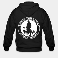 Hoodie à fermeture éclair Animal liberation direct action