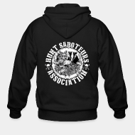 Hoodie à fermeture éclair Hunt saboteurs association