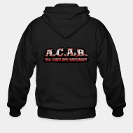 Hoodie à fermeture éclair A.C.A.B. All Cops Are bastards