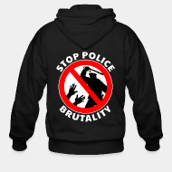 Hoodie à fermeture éclair Stop police brutality