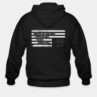 Hoodie à fermeture éclair There is no flag large enough to cover the shame of killing innocent people
