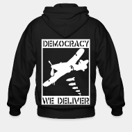 Hoodie à fermeture éclair Democracy we deliver