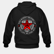 Hoodie à fermeture éclair When injustice becomes law resistance becomes duty - class war fight the power