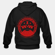 Hoodie à fermeture éclair IWW - Industrial Workers of the World - an injury to one is an injury to all - solidarity forever