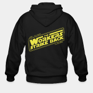 Hoodie à fermeture éclair Class war - The workers strike back
