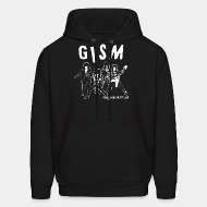 Hoodie sweatshirt GISM - punks is hippies