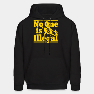 Hoodie sweatshirt Refugees welcome - no one is illegal