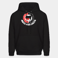 Hoodie sweatshirt Anti-fascists