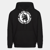 Hoodie sweatshirt Rap and HipHop against fascism