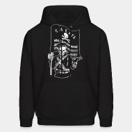 Hoodie sweatshirt Makhnovtchina - Death to all who stand in the way of obtaining the freedom of working people!