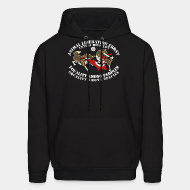 Hoodie sweatshirt Animal Liberation Front antifa division - equality among peoples, equality among species